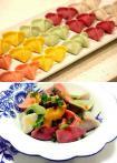 「芋饺」煮后仍能保持原色 ♣ 红油五彩芋饺