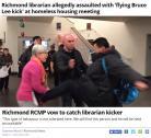 列治文市府说明会 亚裔飞脚踹老妇 警方发通缉 (动图)