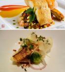 香煎石斑鱼(下图) 摆盘