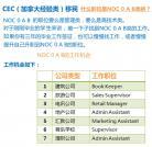 「CEC」工作「NOC code」必须为0/A/B类