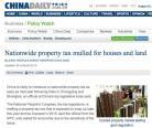 ❖ 中国可能最早明年开征 全国房产税
