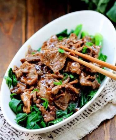 肉片青菜`