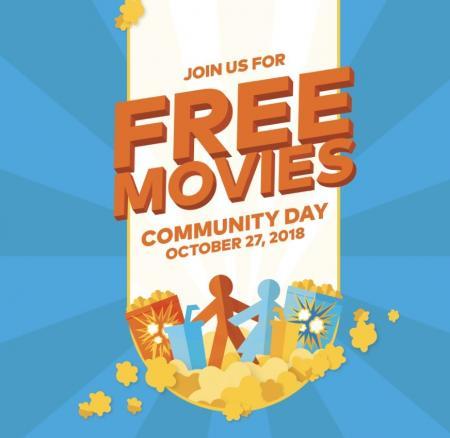 ⌚ 10月27日Cineplex社区日免费看电影