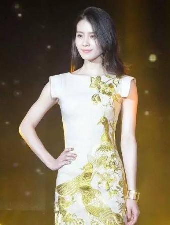 刘诗诗 金孔雀刺绣旗袍