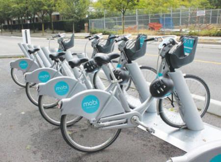 温哥华市自行车共享计划 推两种价格年票