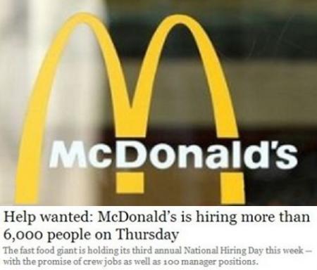 加拿大「麦当劳」全国招聘日 4月10日