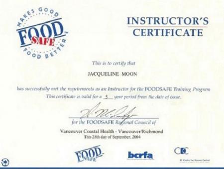 (温哥华) 食品卫生初级证书 两天课程C$125