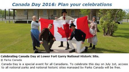 庆祝国庆 加拿大公园局取消全国国家公园及古迹的游览门票